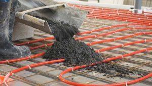 Vloerverwarming onder betonvloer