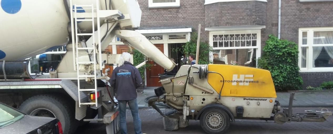 beton bestellen en storten in Rotterdam